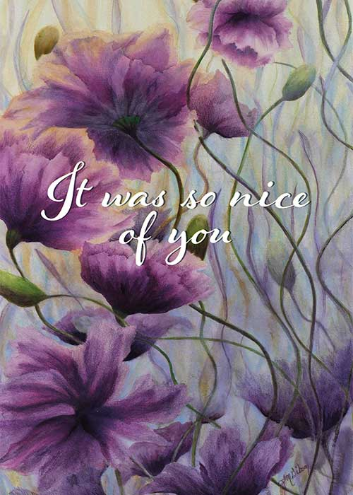 So Nice of You Purple Floral Thank You Card