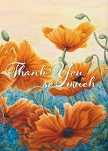Orange Flowers Thank You Card