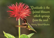 Gratitude is the Fairest Blossom Thank You Card