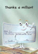 Thanks a Million! Thank You Card