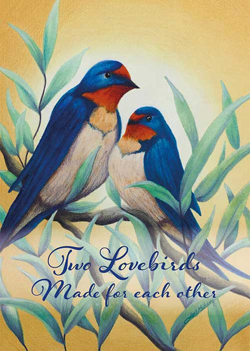 Two Lovebirds Wedding Card