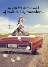 As You Travel the Road of Married Life Funny Wedding Card