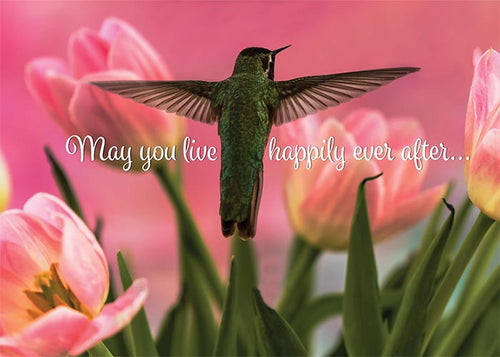 May You Live Happily Ever After Hummingbird Wedding Card