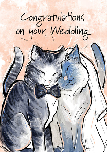 Congratulations on your Wedding! Cat Wedding Card