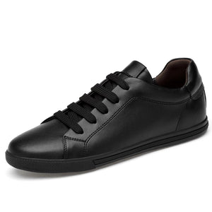 Light Leather Sneaker- Black