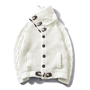 Mane Turtleneck Sweater-WHITE