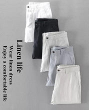 Luxurious White Linen Pants