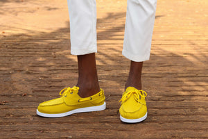 Canvas Boat Shoes- Mustard