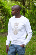 Bee Embroidered Sweatshirt-White