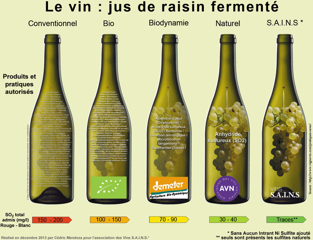Natural Wine - Additives - vin SAINS