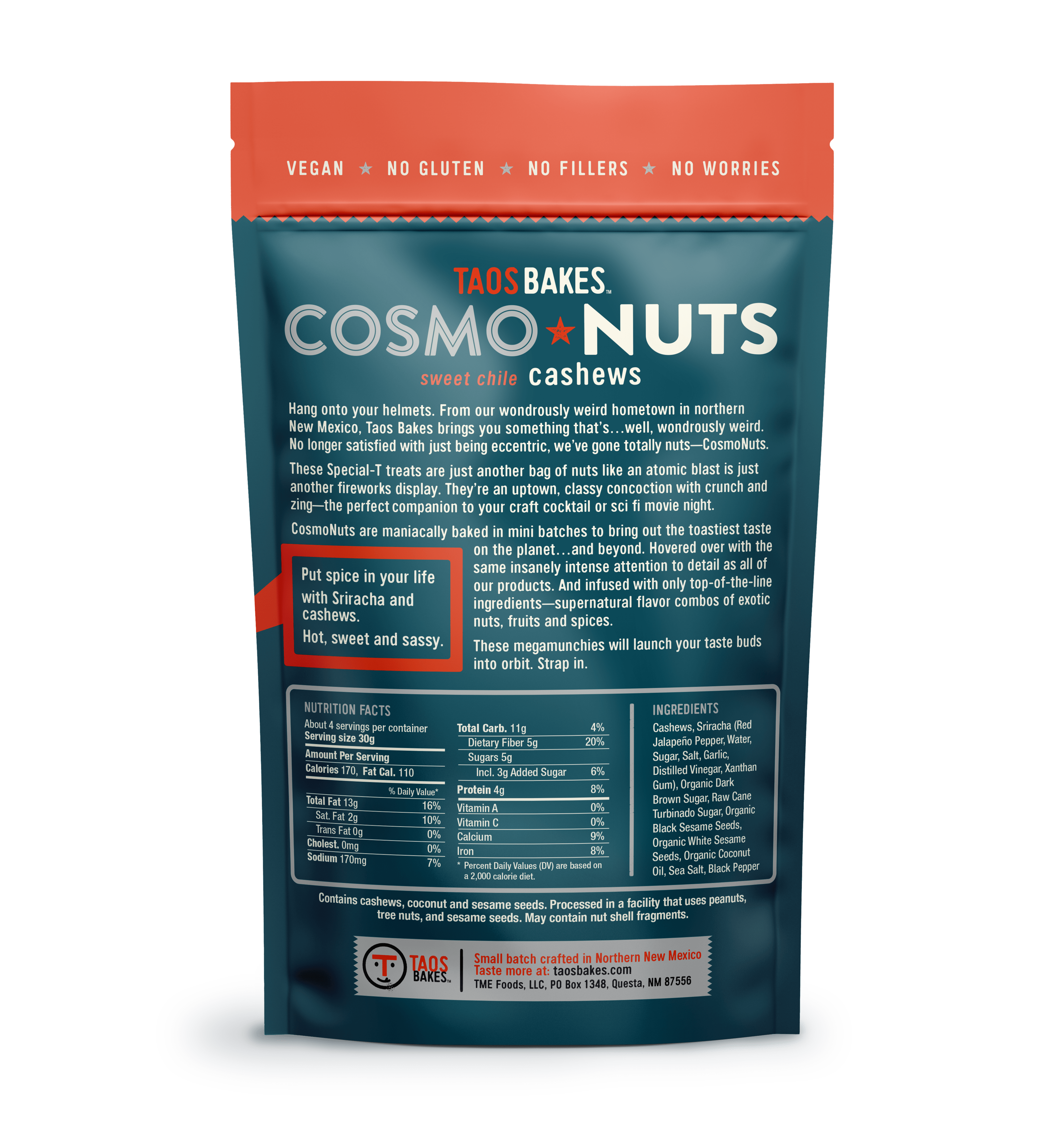 CosmoNuts - Sweet Chile Cashews