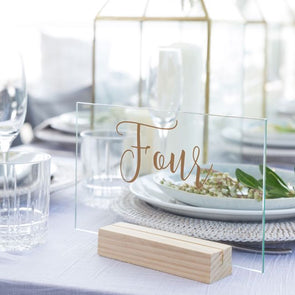 TABLE TOP - TABLE NUMBERS