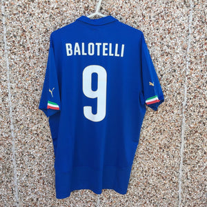 2014 2015 Italy BALOTELLI #9 home Football Shirt NEW - XL