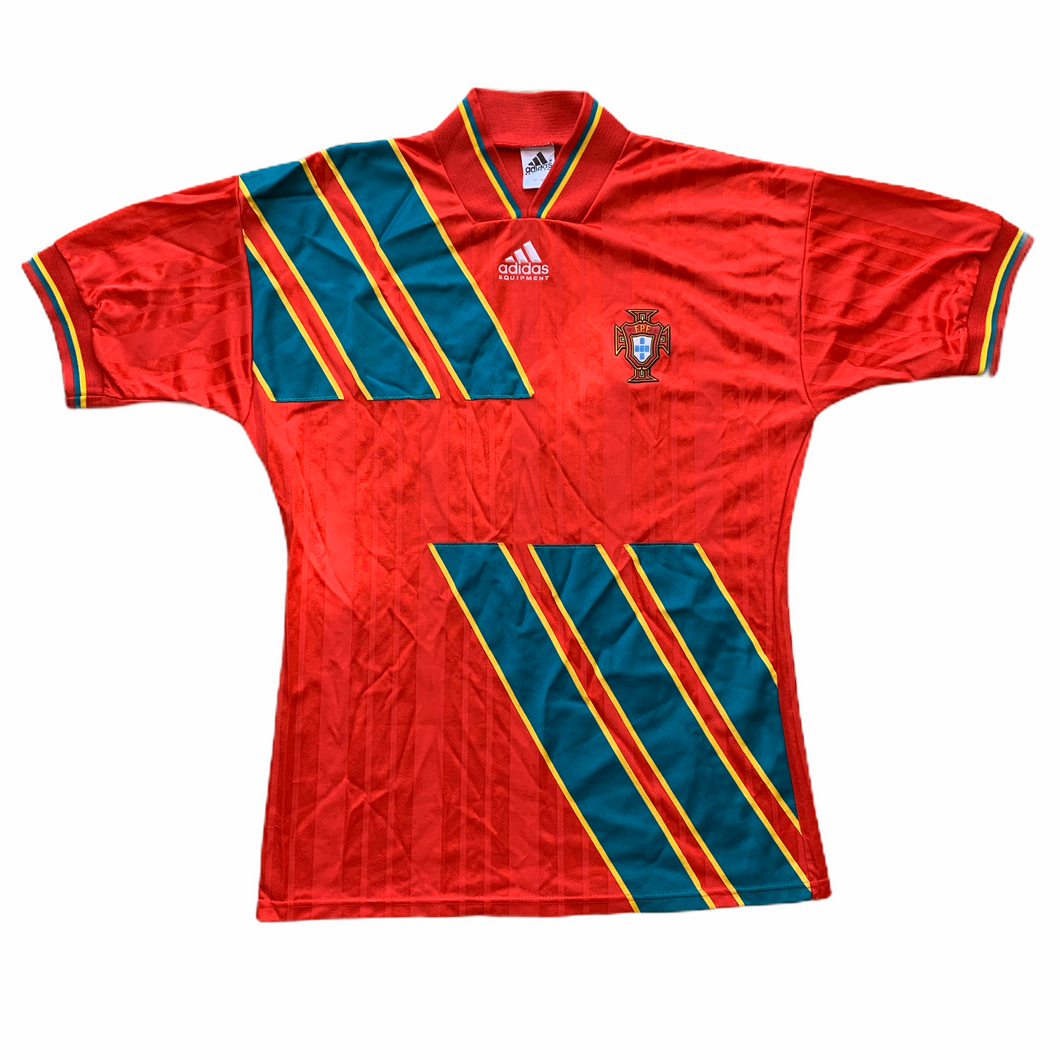 1994 1995 PORTUGAL HOME FOOTBALL SHIRT - M