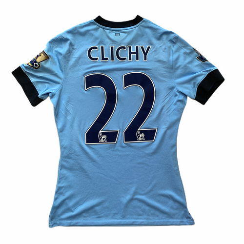 2014 15 MANCHESTER CITY MATCH PLAYER ISSUED SHIRT #22 CLICHY - M