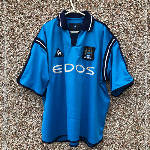 2001 2002 Manchester City home Football Shirt - XL