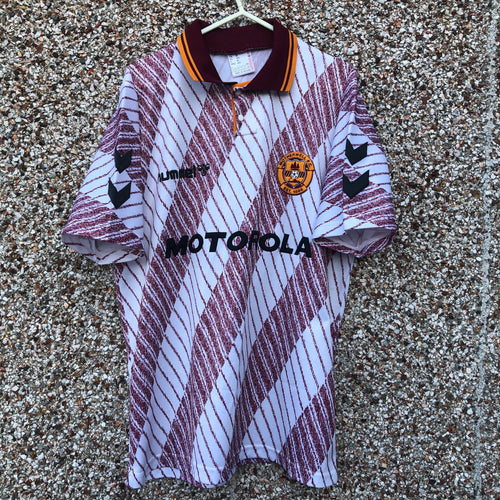 1992 1994 MOTHERWELL AWAY FOOTBALL SHIRT - M