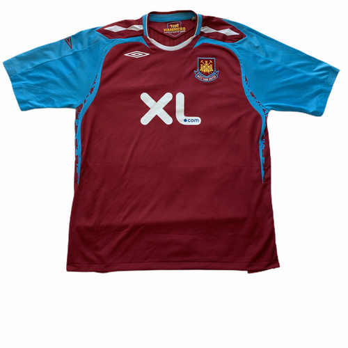 2007 2008 WEST HAM UNITED HOME FOOTBALL SHIRT - XXL