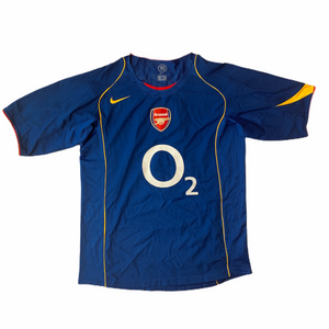 2004 05 ARSENAL HOME FOOTBALL SHIRT #3 COLE - M