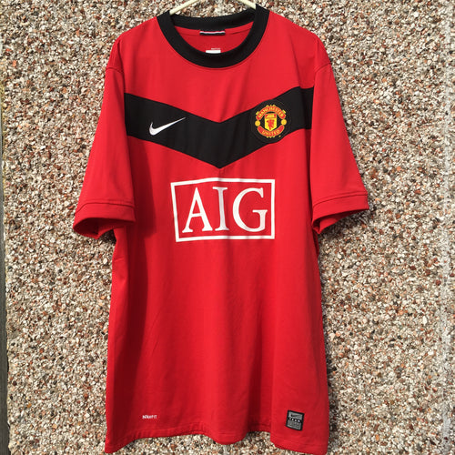 2009 2010 Manchester United home Football Shirt - L