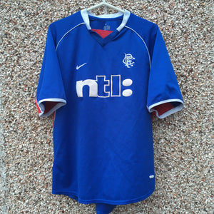 2001 2002 Rangers home Football Shirt - L
