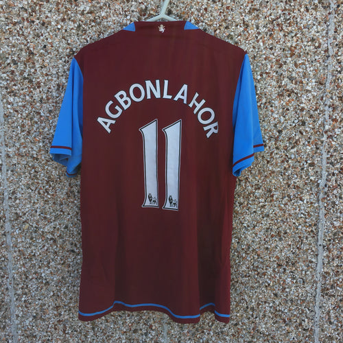 2007 2008 Aston Villa Home Football Shirt Agbonlahor #11 - M