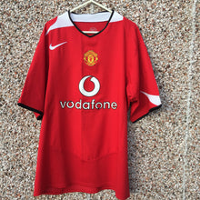 2004 2006 Manchester United Home Football Shirt - L