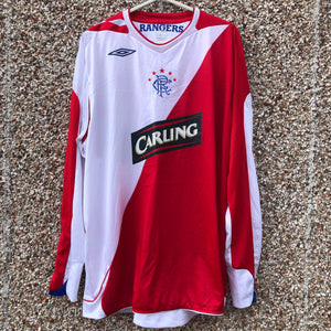 2006 2007 Rangers away L/S football shirt #8 CLEMENT - XXL
