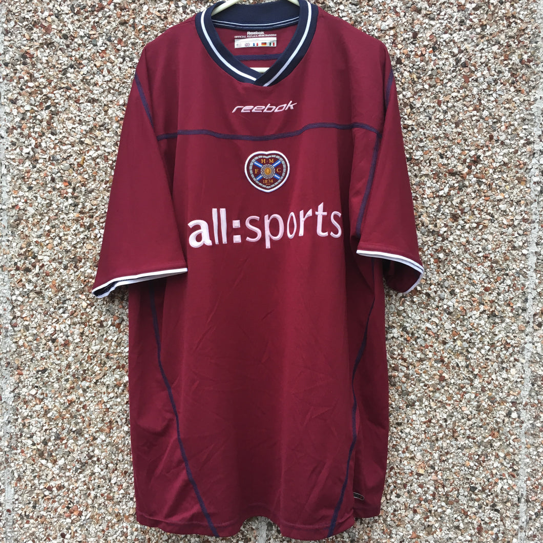 2002 2004 Heart of Midlothian home Football Shirt - L