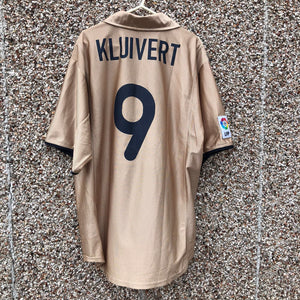 2001 2003 Barcelona Away Football Shirt KLUIVERT #9 - L