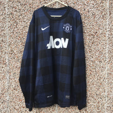 2013 2014 MANCHESTER UNITED AWAY L/S FOOTBALL SHIRT  L