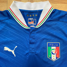 2012 13 ITALY HOME FOOTBALL SHIRT (excellent) - S