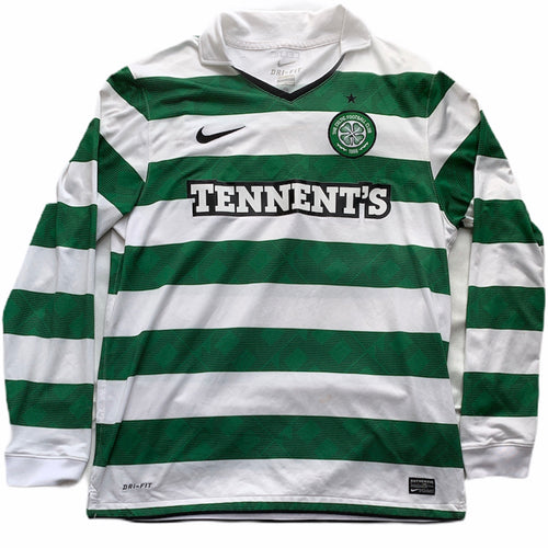 2010 12 CELTIC LS HOME FOOTBALL SHIRT - L