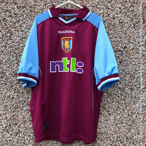 2000 2001 Aston Villa home Football Shirt - L