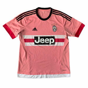 2015 16 JUVENTUS AWAY FOOTBALL SHIRT Pink Drake - M