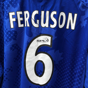 2002 2003 Rangers LS home Football Shirt #6 FERGUSON - XL