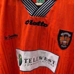 1997 1999 Blackpool home Football Shirt - L