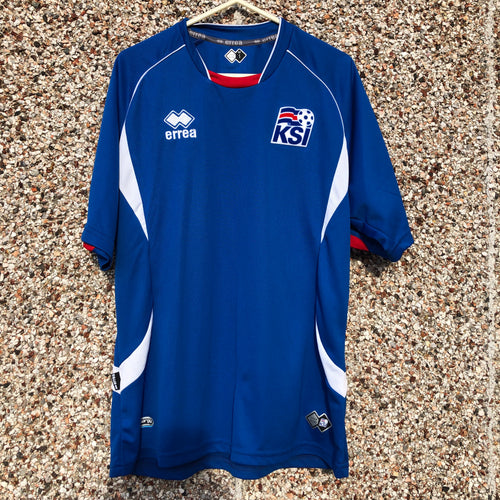 2010 2012 ICELAND HOME FOOTBALL SHIRT - S