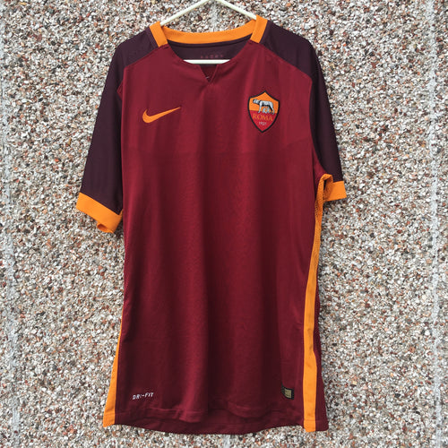 2015 2016 ROMA PLAYER ISSUE 'AUTHENTIC' HOME FOOTBALL SHIRT - S