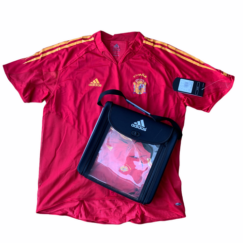 2004 06 SPAIN HOME FOOTBALL SHIRT SPECIAL EDITION ADIDAS BAG *BNIB* - L