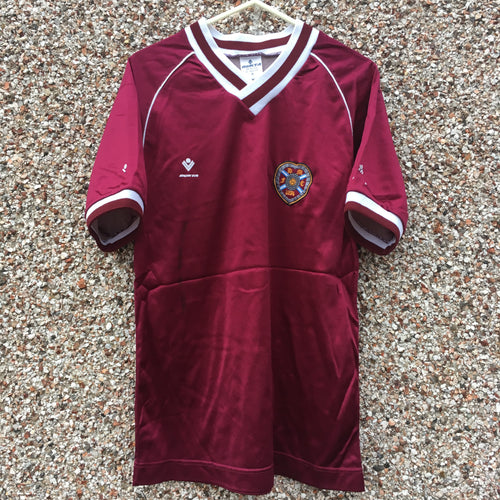 1987 1988 Heart of Midlothian home Football Shirt - S