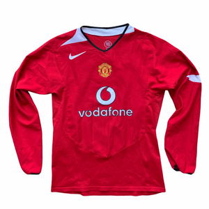 2004 06 MANCHESTER UNITED LS HOME FOOTBALL SHIRT - LB