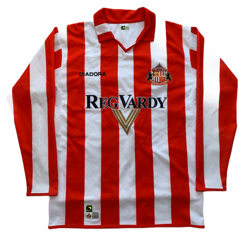2004 2005 SUNDERLAND L/S HOME FOOTBALL SHIRT - M