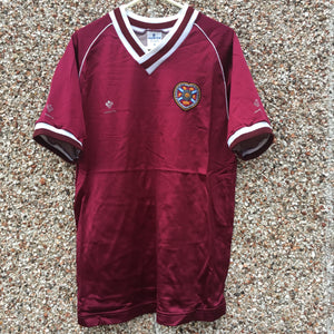 1987 1988 Heart of Midlothian home Football Shirt - M
