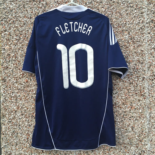 2010 2011 Scotland home Football Shirt #10 Fletcher - S
