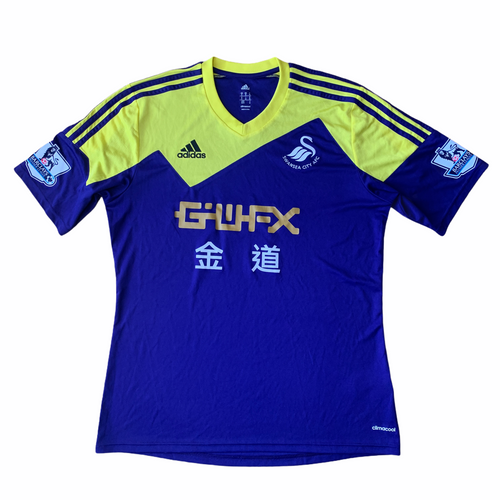 2013 14 SWANSEA AWAY FOOTBALL SHIRT - M