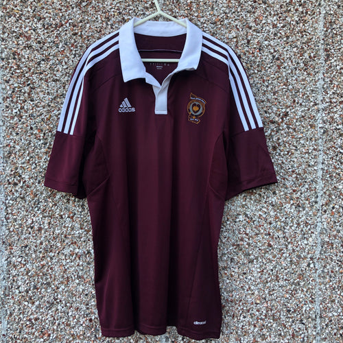 2014 2015 HEART OF MIDLOTHIAN HOME FOOTBALL SHIRT - L