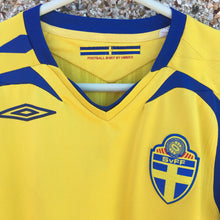 2007 2009 Sweden home Football Shirt - S