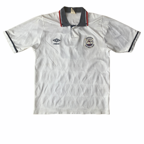 1989 90 ABERDEEN AWAY FOOTBALL SHIRT #8 - S