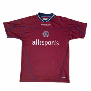 2002 04 HEART OF MIDLOTHIAN HOME FOOTBALL SHIRT - L